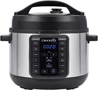 Crock-Pot 4-Quart MINI Express Crock Programmable Slow Cooker and Pressure Cooker with Manual Pressure and Optional Glass ...