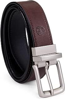 Timberland 男式经典皮带双面棕色至黑色