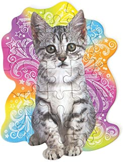 Playhouse Tabby Kitten 25-Piece Die-Cut Shaped Mini Puzzle for Kids