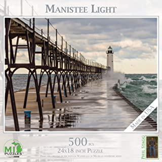 MI Puzzles Phil Stagg Photography Manistee Lighthouse 500 Piece Puzzle