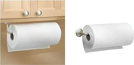 InterDesign Classico Paper Towel Holder for Kitchen, Bathroom - Wall Mount/Under Cabinet, Satin