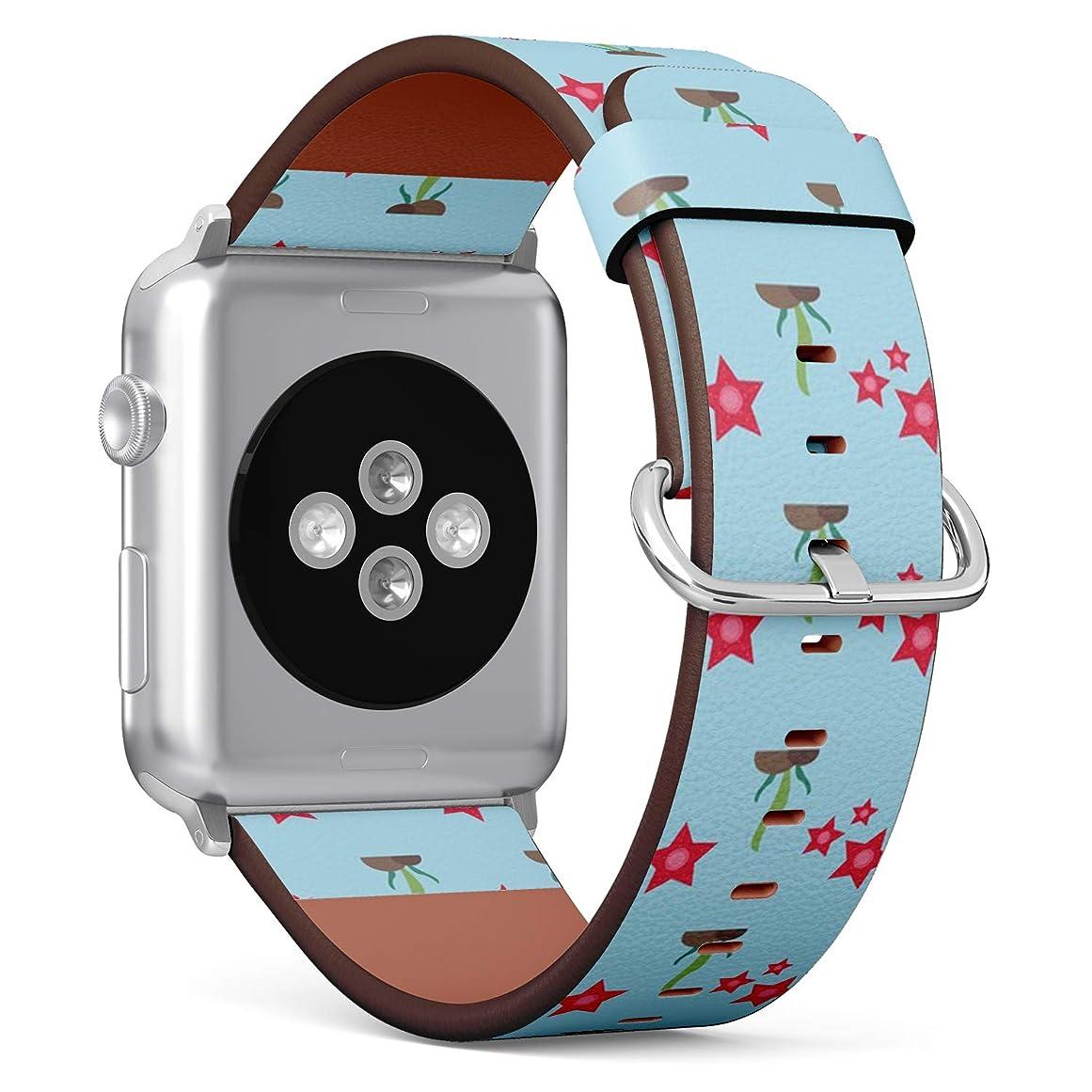マトンである寛容コンパチブル Apple Watch iWatch 42mm & 44mm - 本革レザーストラップ, 向けのバンド交換ストラップです コンパチブル アップルウォッチ バンド (海洋のテーマ)
