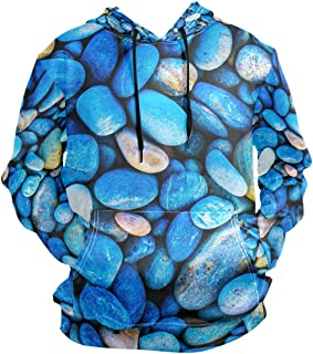 Pebble Stones Hoodie for Pullover Long Sleeves Casual Thin Workout Sweatshirts