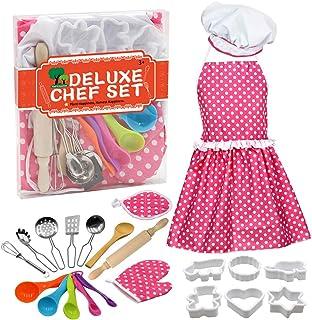 Coxeer DIY Baking Set Creative Cooking Toy Set Pretend Play Accessories for Children