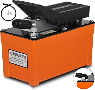 Mophorn Air Hydraulic Pump 10000 PSI 0.5 Gal Reservoir Hydraulic Foot Pump Air Treadle Foot Actuated Hydraulic Pump