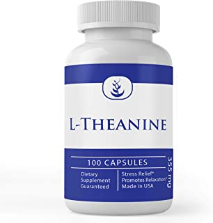 Sponsored Ad - L-Theanine, 100 Capsules, 355mg Serving, Naturally Sourced, Potent, No Additives or Filler, Gluten-Free, La...