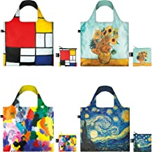LOQI Museum Collection Pouch, Set of 4 Reusable Bags