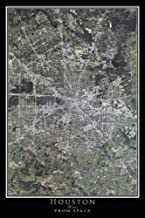 Houston Texas Satellite Poster Map L 24 x 36 inch
