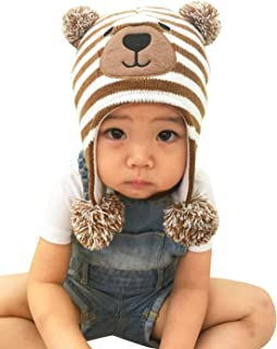 bear earflap hat crochet pattern