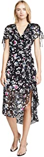 Parker womens Lizzy Short Sleeve Wrap Front Ruched Midi Dress Dress