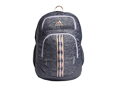 adidas Prime V Backpack (Onix Jersey/Onix/Haze Coral/Purple Tint) Backpack Bags