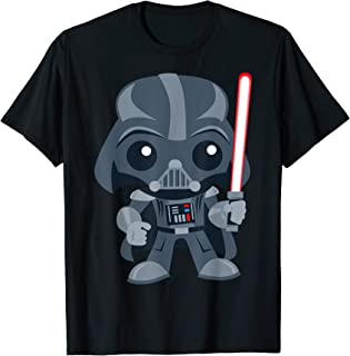 Star Wars Cute Darth Vader and Cartoon Saber Maglietta