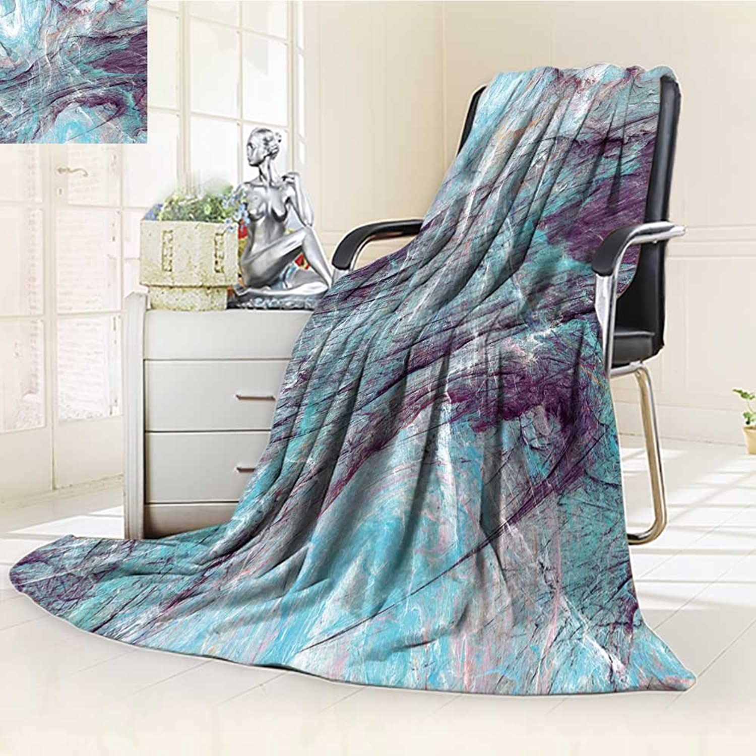 Decorative Throw Blanket UltraPlush Comfort Abstract Painting bluee color Texture Bright Artistic Background Cold Dynamic pa Soft, colorful, Oversized   Home, Couch, Outdoor, Travel Use(60 x 50 )