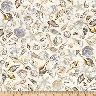 Timeless Treasures 0512259 Beach Haven Fabric by The Yard, Shells