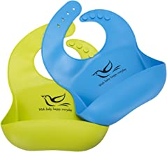 Dreamslink Silicone Baby Bib Comfortable for Babies and Toddlers, Blue Green, Blue Green