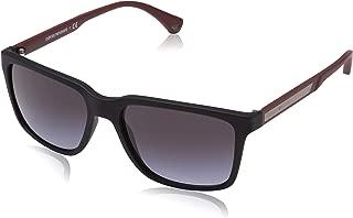 Emporio Armani EA4047 56518G Black Rubber EA4047 Square Sunglasses Lens Categor