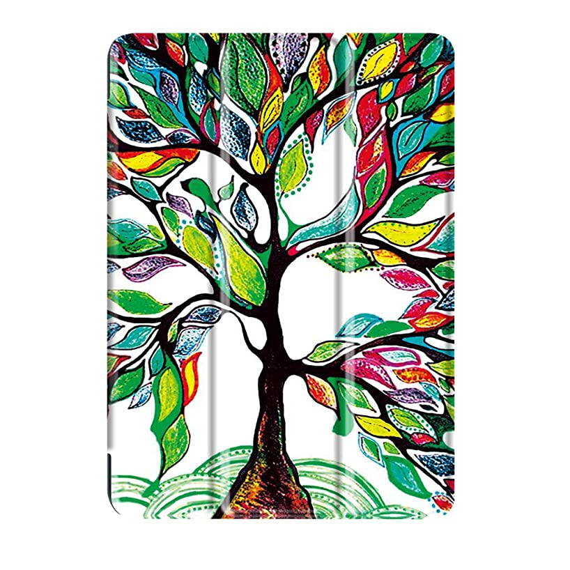 MagiDeal Colorful Tree Smart Folio Stand PU Leather Case Auto Sleep/Wake UP Cover for Huawei Mediapad M3 Lite 10.1''
