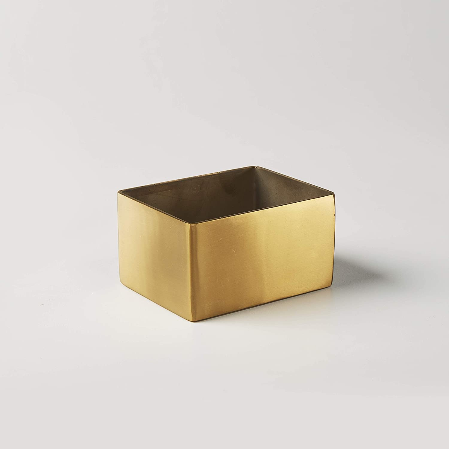 Satin Finish American Metalcraft GSPT5 Square Gold Sugar Packet Holder 2-Inches