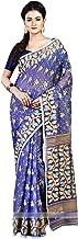 RLBFashion Women's Cotton Silk Handloom Dhakai Jamdani Saree (Light Blue)