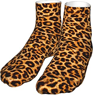 PeiZhengYuanLin-Shop, Calcetines Calcetín Compresión con estampado de leopardo Calcetines Altos 30CM
