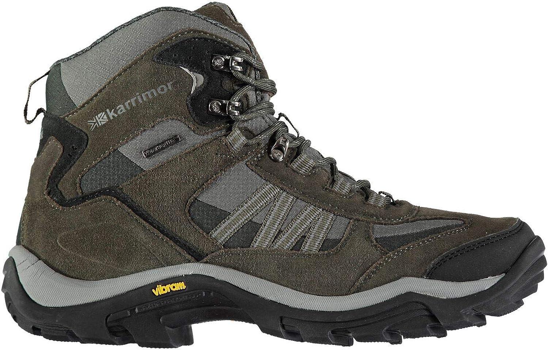 Official Karrimor Aspen Mid Weathertite Waterproof Walking Boots Mens Brown Hiking shoes
