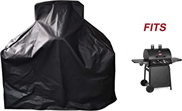 acoveritt Heavy Duty 600D Waterproof BBQ Gas Grill Full Coverage Cover for Char-Griller 3-Burner Grillin' Pro 3001 and 3000, Black