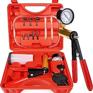 Thorstone Kit de ferramentas de teste de bomba de vácuo manual e sangramento de embreagem de freio com adaptadores, operaç...