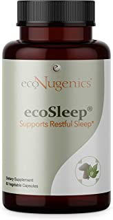 EcoNugenics - EcoSleep - 60 Capsules - Natural Sleeping Aid for Relaxation & Insomnia Relief - Lemon Balm & Passionflower ...