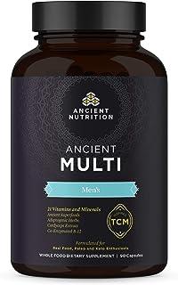 Ancient Multi Men's - 21 Multi Vitamin & Immune System Support, Co-Enzymed B-12, Adaptogenic Herbs, Paleo & Keto Friendly,...