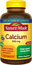 Nature Made Calcium 600 mg Tablets with Vitamin D3, 220 Count Value Size (Packaging May Vary)