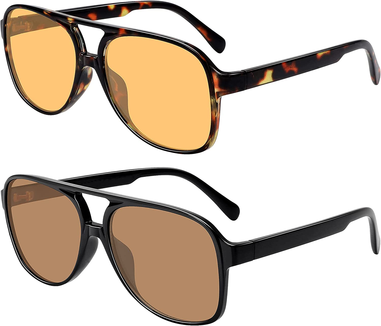 Free Shipping shopping New Vintage Aviator Sunglasses for Women 70s Men Retro Classic Large