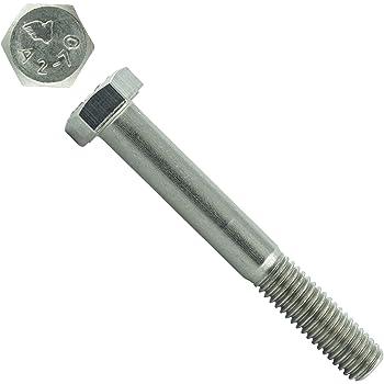 ISO 4014 M8x80 - - aus rostfreiem Edelstahl A2 V2A 10 St/ück DIN 931 - SC931 Sechskantschrauben mit Schaft - Maschinenschrauben