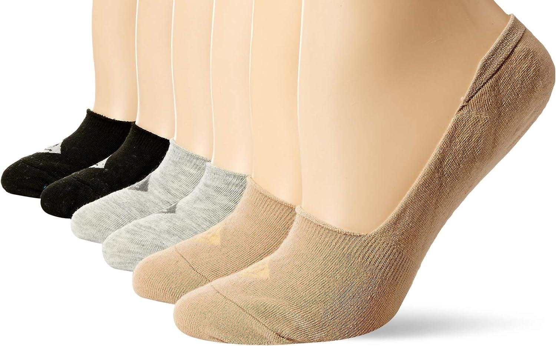 Sperry Women's Solid Mid Vamp Liner 6-Pair Socks, Brush Assorted, Shoe Size: 5-10