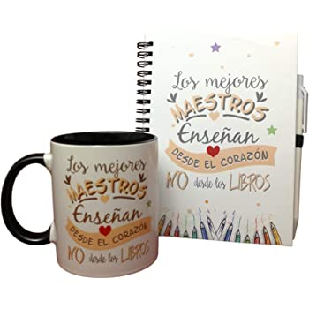 MISORPRESA Pack Taza Y LIBRETA Frase Los Mejores Maestros enseñan ...