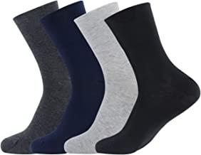 Gather Other 4 Pairs Men's/Women's Wide Top Cotton Non Elastic Crew Casual Socks