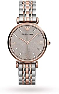 Emporio Armani Ladies Classic Steel and Rose Gold Watch AR1840