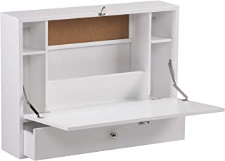 SEI Furniture Willingham Wall Mount Folding Desk, White