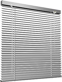 Victoria M - Persiana de aluminio, 45 x 130 cm, Plata