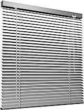 Victoria M. Store vénitien en Aluminium pour fenêtres et Portes - sans pré-perçage, Clips de Serrage Inclus - 130 x 130 cm Argent