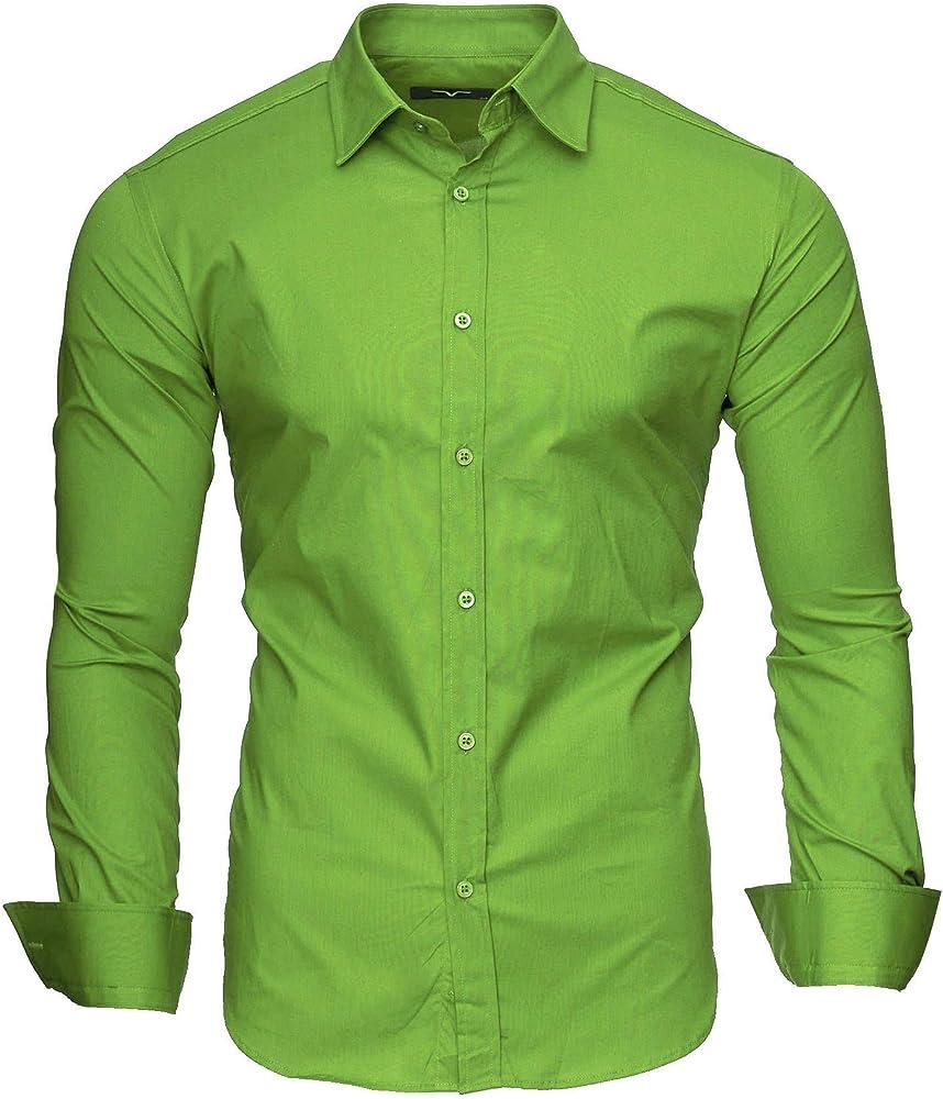 Kayhan originale camicia a maniche lunghe da uomo 97% cotone 3% elastan A-TwoFace-0000115a2