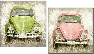 Cuadros decoración madera Volkswagen Escarabajo 24x24x7 para decorar el baños la cocina el dormitorio rincones etc. Con po...