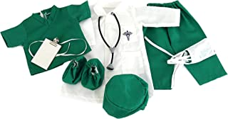 American Fashion World 18-Inch Doll Clothes Doctor's Outfit 7 pc Set Including Accessories