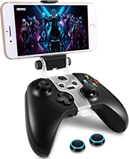 WEPIGEEK Wireless Controller Phone Clip Mount Holder Clamp Compatible with Xbox One S /Elite / Elite Series 2 Bluetooth Gamepad