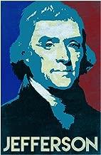President Thomas Jefferson Pop Art Portrait Cool Wall Decor Art Print Poster 12x18