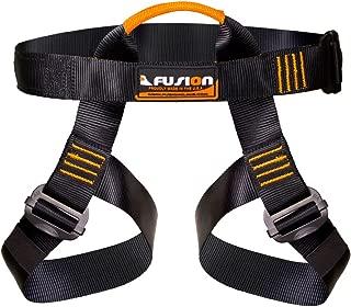 Fusion Climb Centaur Half Body Harness Black M-XL for Climbing Gym & Rope Course