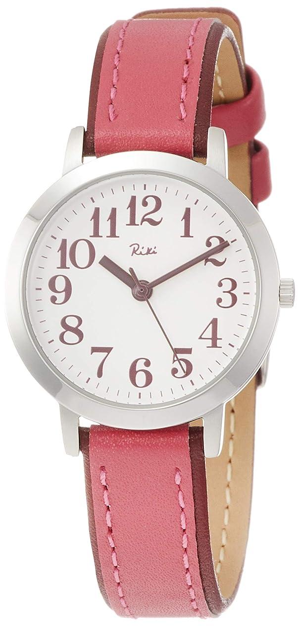 父方のネットナイトスポット[セイコーウォッチ] 腕時計 リキ 薄ピンク文字盤 花菊色革バンド カーブハードレックス AKQK444 レディース レッド