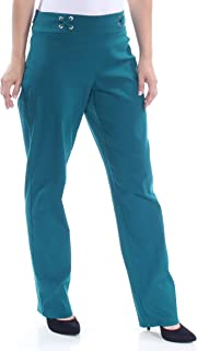 JM COLLECTION Womens Green Straight leg Formal Pants US Size: S