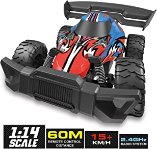 BEZGAR Remote Control Car, 1:14 Large Size High Speed Off Road Kids RC Racing Car Boys Radio Controlled Crawler Electronic Vehicle Truck