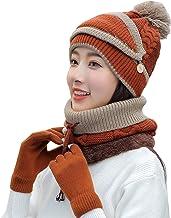 YTXTT Conjunto de cachecol feminino de inverno com 4 peças, cachecol de tricô espesso, luvas femininas quentes para o inve...