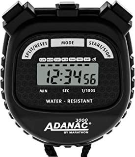 Marathon ADANAC 3000 Digital Stopwatch Timer, Water Resistant, Battery Included